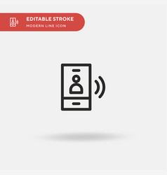 touch screen simple icon vector image