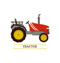 Tractor machine with pipe vector