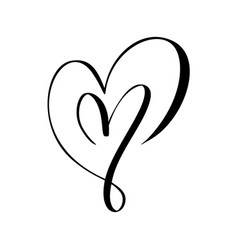 Two black hearts sign icon on white vector