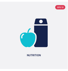 Two color nutrition icon from health concept vector