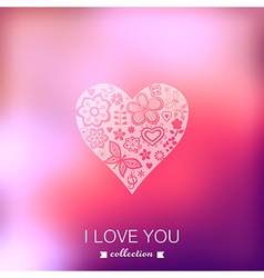Valentines Day background Heart Blurred template vector image