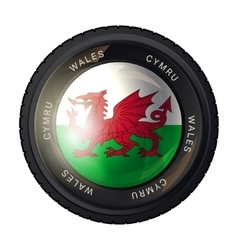 Wales flag icon vector