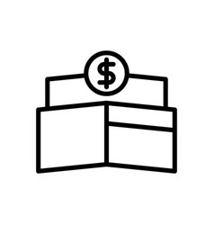 Wallet payment icon vector