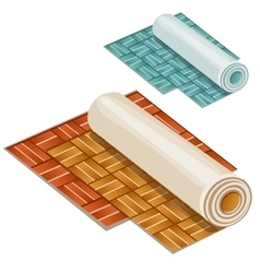 Wallpaper rolls two types on white background vector image