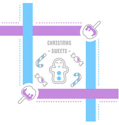 website banner and landing page christmas vector image