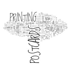Why rush postcards sell text word cloud concept vector