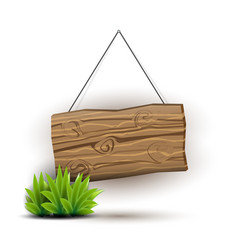 wooden sign concept vector image