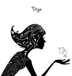 Zodiac sign virgo fashion girl vector image