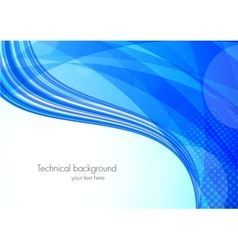 Abstract tech blue background vector image vector image