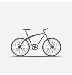 bike in grayscale vector image vector image
