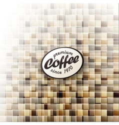 coffee themed abstract design template vector image