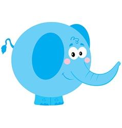Cute Blue Elephant vector image vector image