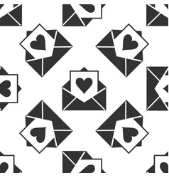 envelope with valentine heart seamless pattern vector image
