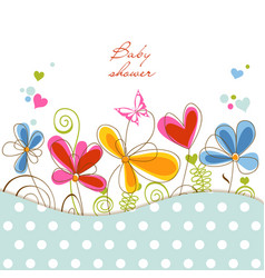 Floral baby shower vector