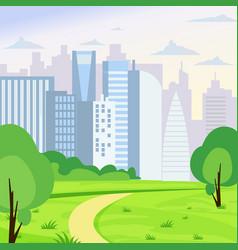 green park landscape on big vector image vector image