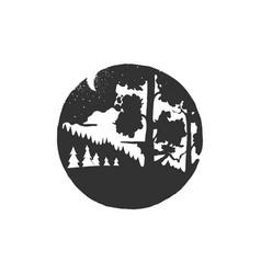 vintage hand drawn logotype typographic vector image