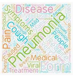 Common Pneumonia Symptoms text background vector image vector image