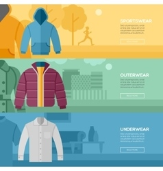 Flat design concept of every day clothes vector image