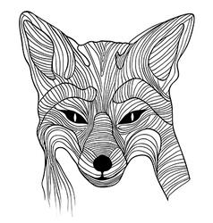 Fox animal sketch vector