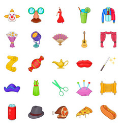 gladden icons set cartoon style vector image vector image