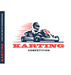 Kart racing winner vector