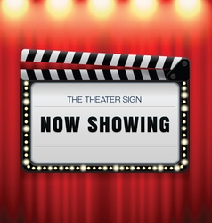 theater sign slate vector image vector image