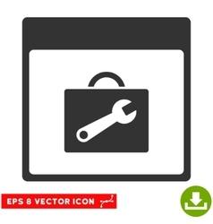 Toolbox Calendar Page Eps Icon vector image vector image