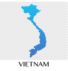 vietnam map in asia continent design vector image