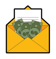 isolated money envelope vector image