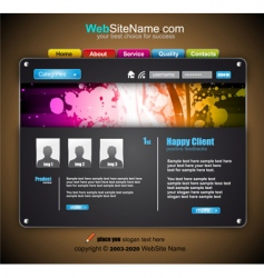 modern abstract colorful website template vector image vector image