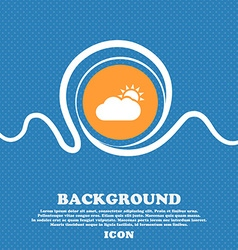 Partly Cloudy icon sign Blue and white abstract vector image vector image