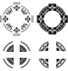 set of fantasy rings vector image vector image