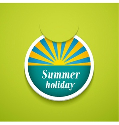 Summer holiday sticker vector image