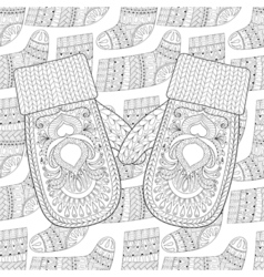 mittens on Sock vector image vector image
