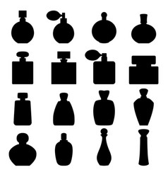 set of perfume icons vector image