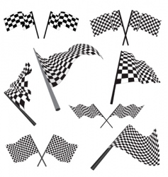 set of racing flags vector image vector image