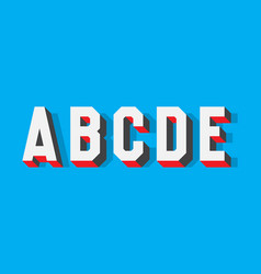 A b c d e volumetric contrasting letters 3d vector