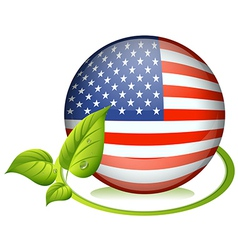 A ball with the USA flag vector image