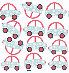 abstract car child seamless pattern it is located vector image