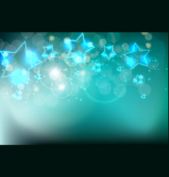 abstract glossy neon star background vector image