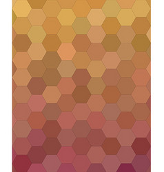 Abstract hexagon tile mosaic pattern background vector image