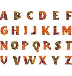 Africa - patterned alphabet vector