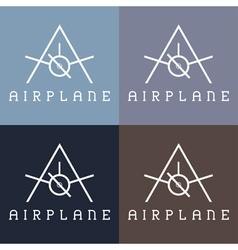airplane monogram vector image
