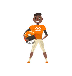 american football player wearing uniform holding vector image