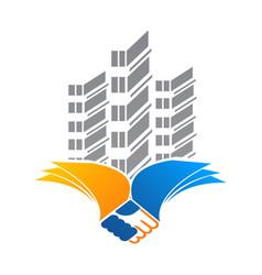 Architect construction idea - logo template vector