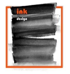 Banner black spots on wet ink vector