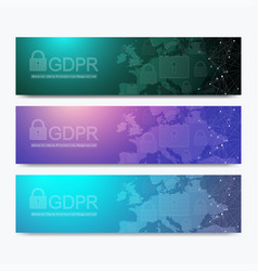 banners gdpr - general data protection regulation vector image