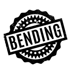 Bending rubber stamp vector