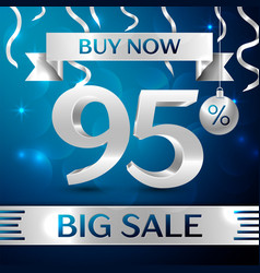Big sale buy now ninety five percent for discount vector