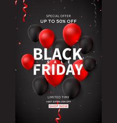 black friday sale flyer template vector image